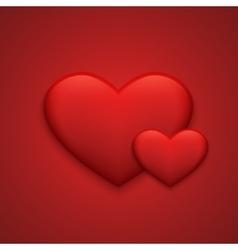 Modern red valentines day background vector