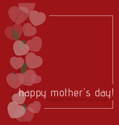 mothers day card - shrub from hearts and text vector image