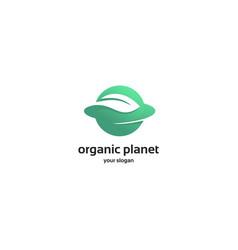 organic planet logo vector image