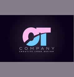 ot alphabet letter join joined letter logo design vector image