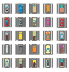 Parking icons set isometric style vector