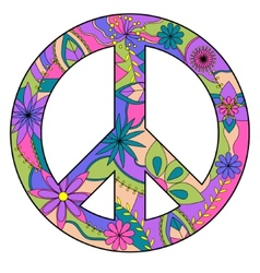 Peace sign vector