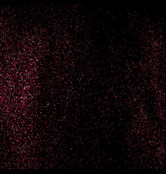pink glitter texture on black background vector image