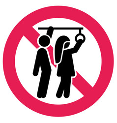Prohibition sign public transport no sexual abuse vector