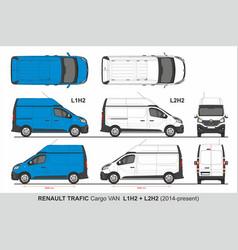 renault tragic cargo van l1h2 l2h2 2014-present vector image