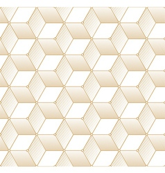 Retro Pattern with Golden Cubes vector