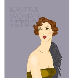 Retro woman vector