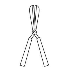 scissors plant cut icon outline style vector image