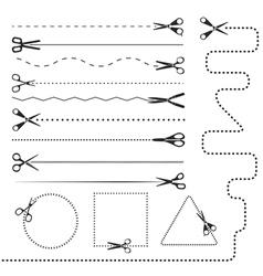 Scissors silhouettes vector image vector image