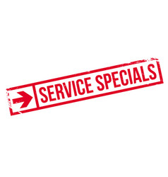 Service specials rubber stamp vector