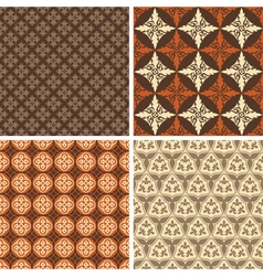 set four seamless square patterns vector image