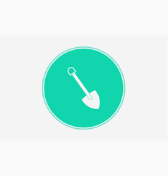 shovel icon sign symbol vector image
