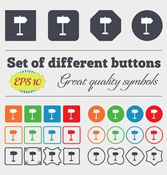 Signpost icon sign Big set of colorful diverse vector