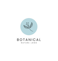 Simple botanical nature spa and beauty logo vector