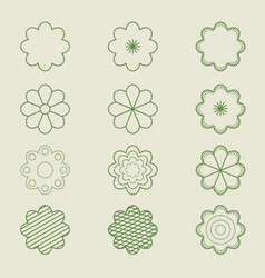simple flower patterns vector image