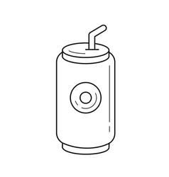 soda pop can line icon vector image