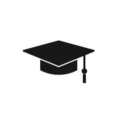 Square academic cap simple graduate cap vector