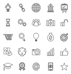 Start up line icons on white background vector