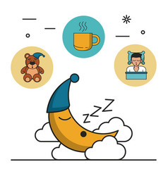 sweet dreams and good sleep infographic vector image