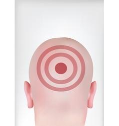 target head vector image