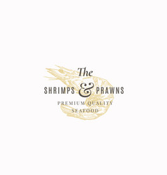 the shrimps and prawns farm abstract sign vector image
