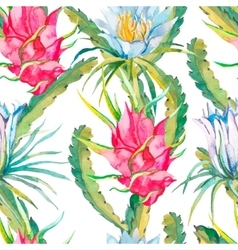 Tropical seamless pattern Exotic leaves and vector image