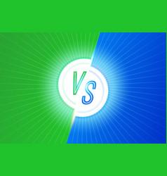 Vs letters versus banner competitive concept vector
