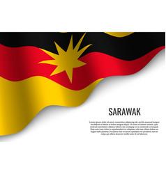 Waving flag is a region malaysiar vector