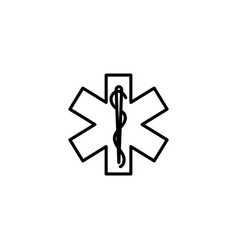 Web line icon medicine ambulance emblem vector