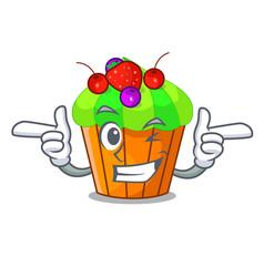 Wink ice cream sundae cupcakes on character vector