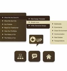 Wood web design vector