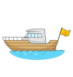 Yacht cartoon vector image