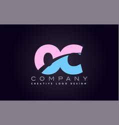 oc alphabet letter join joined letter logo design vector image vector image