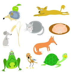 set of animals EPS10 vector image vector image