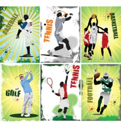 sport posters vector image vector image