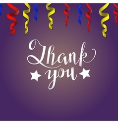 Thank you card Lettering vector image