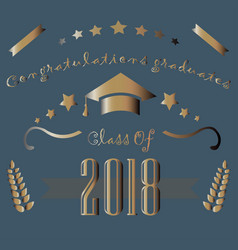 congratulations graduates of year 2018 vector image vector image