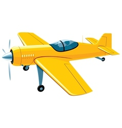 Flying sport airplane vector image vector image