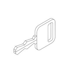 Key icon isometric 3d style vector image