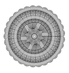 mandala decorative ethnic element adult coloring vector image