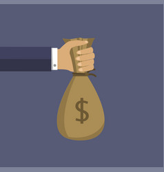 money bag in the hand vector image
