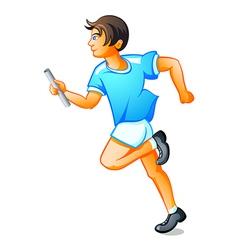Runner boy vector image