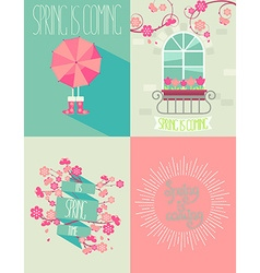 set of springtime vector image vector image