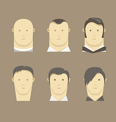 Different men faces style vector image
