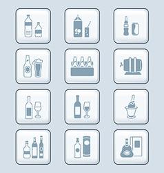 drinks set tech vector image