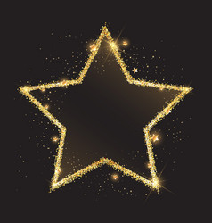 glittery gold star background vector image vector image
