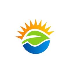 green leaf nature bio ecology logo vector image