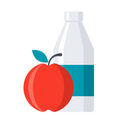 School lunch icon vector