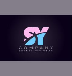 Sy alphabet letter join joined letter logo design vector