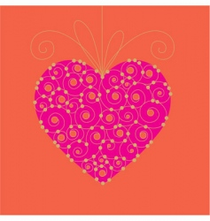 valentine day card 03 vector image vector image